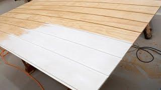 Making DIY Shiplap Wall Panels for a False Wall