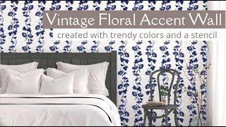 How To Stencil a Vintage Floral Wall Using a Border Stencil