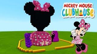 "Minecraft Tutorial: How To Make a Minnie Mouse Clubhouse House ""Mickey Mouse Clubhouse"""
