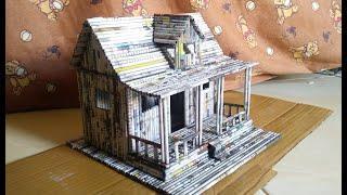 DIY Miniatur Rumah dari Koran | How To Make a House From Newspaper