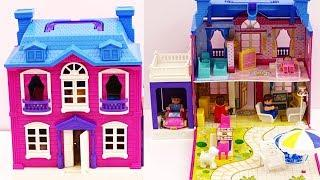 How To Make Doll House With Building Blocks  | Doll House Building Blocks | Children Toy Stories