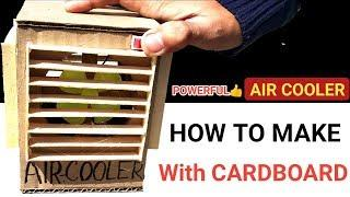 How to Make Powerful AIR Cooler With Cardboard | DIY Mini air cooler cardboard And Ice Cream Sticks