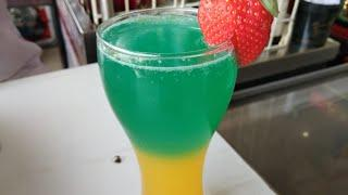 Blue sky mocktail || top on sky mocktail || the mocktail house