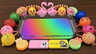 DIY Mixing Things into Rainbow Slime | Mixing Rainbow Kinetic Sand and Slime