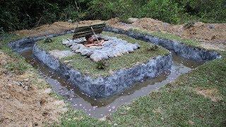 Build Swimming Pool Around Underground House Part 2