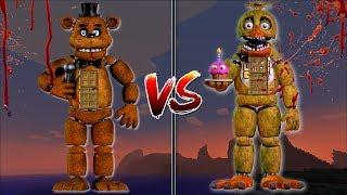 Minecraft FNAF BONNIE HOUSE VS FNAF CHICA HOUSE / MAKE YOUR OWN HOUSE IN MINECRAFT !! Minecraft Mods