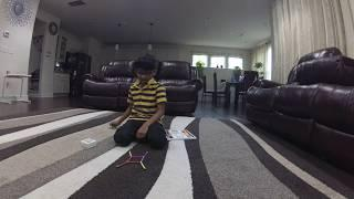 How to build a house with magnet balls and magnet sticks - Kids
