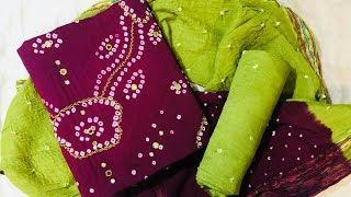 Latest Bandini Dress Materials With Price//Stylish Dress Materials