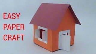 HOW TO MAKE A EASY PAPER HOUSE.(EASY PAPER CRAFT)