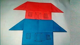 How To Make Paper House||Craft Paper House Easy