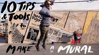 10 TIPS & TOOLS on How to Paint a Street Art Mural // Ep 6