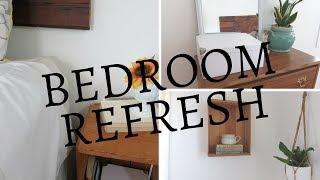 HOW TO REFRESH A BEDROOM IN A RUSTIC FARMHOUSE STYLE ON A BUDGET   THRIFTED DECOR
