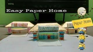 How To Make Paper Home Easily n Kids Origami House  simpal  DIy _Origami Tutorial for Beginners fu