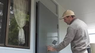 How To Brush a Door Using Water Based Paint or Acrylic Paint. Painting door from start to finish.