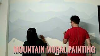 Mountains Range Mural | Wall art | Painting