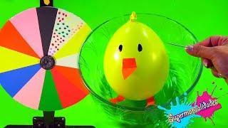 Ruleta de Slime con globos de animalitos /Supermanualidades