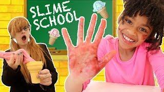 Slime School Teacher vs Slime Students! Classroom Sneak FAIL - New Toy School