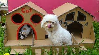 How To Make Easy MeyMey Dog And Cat House From Cardboard