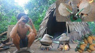 Primitive Technology: Making Traditional Wine (Pineapple) Very Nice Test, Factory Food.