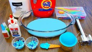 Mixing Blue Kinetic Sand and Things with DIY Slime | 1 Hour Slime Video Compilation #StudySlime