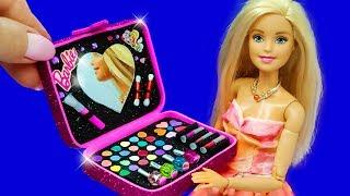 Barbie Doll Makeup Set. DIY for Kids. How to Make Miniature Crafts