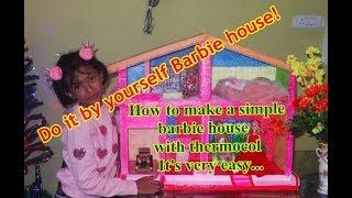 DIY How to make a simple barbie house / doll house at home