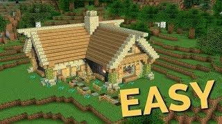 How to build a Rustic House in Minecraft Block by Block | Easy Wooden Cottage Tutorial by Av