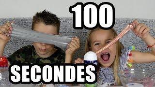 100 SECONDES SLIME CHALLENGE - Making slime challenge !!! - #kidstudiotest