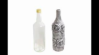 Bottle Art/Wine Bottle Craft/Bottle Transformation/Bottle Decoration by M&D