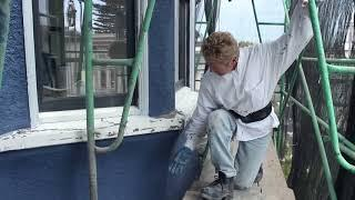 Acrylic stucco paint