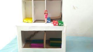 How to make Barbie's house cardboard