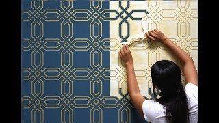 How to Paint a Feature Wall Design FAST! with Modello Custom Stencils