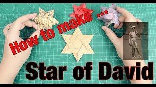 [MonMen House] Make a origami star of David - How to make ...