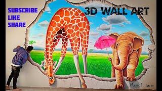 Play school 3D wall painting arts