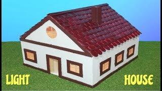 How to make popsicle stick house with light