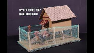 DIY How to make Hen Coop | Chicken House | House of Animals Series | School Project