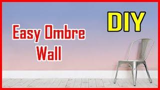 Ombre Wall DIY  How to easily Paint an Ombre Accent Wall