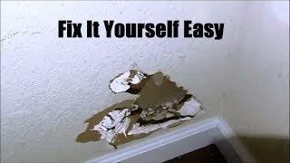 How To Fix or Repair A Hole In the Wall DIY