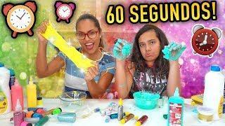 DESAFIO SLIME EM 60 SEGUNDOS! (Trying to make slime in 60 seconds) - JULIANA BALTAR