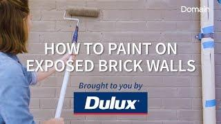 How to paint on exposed brick walls
