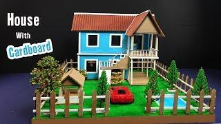 ✔How To Make A Beautiful Miniature Modern House With Cardboard- Easy by Paper Project _ Dream Home