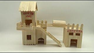 Very Easy to Make Popsicle Stick House for Hamster