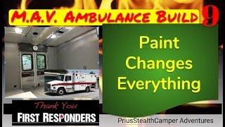 Walls & Ceiling Paint & Finishes - Ambulance Camper Build Conversion RV Freightliner FL60 MAV
