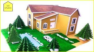 How To Make Beautiful Mansion House From Cardboard ( Dream House )   Cardboard House - Go Studio