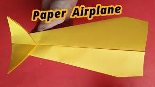 How to make A Cool Paper Airplane Design That fly far Long Distance Step by Step Instructions