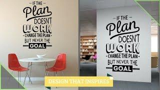 Office Wall Design Inspirational Quotes Calligraphy Painting | AapkaPainter