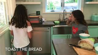GOLDEN GIRLS make Avocado Toast In Wine Country. EASY MEALS FOR KID CHEFS UNDER 10!