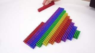 DIY Valentine Gift with ~10000 magnetic balls, How to Make Love House  1080p