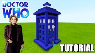 "Minecraft Tutorial: How To Make A Tardis House from Dr Who ""Dr Who"""