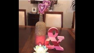 How To Make Wine Bottle Crafts/DIY Wine Bottle Decorations Valentines Day Creating Elegance For Less